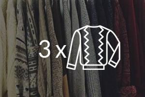 Tintorería - Pack 3 Sweater